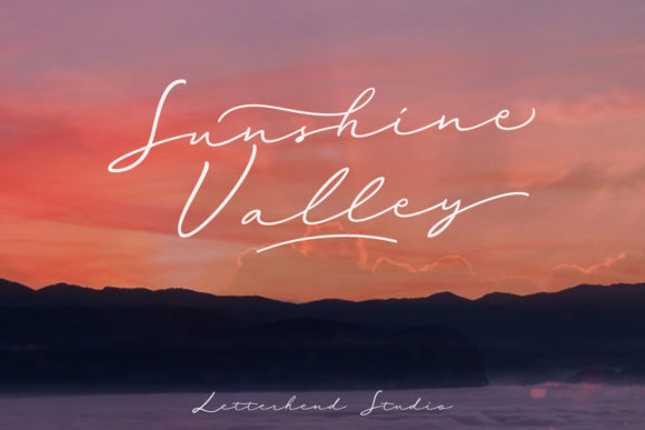 Print on Demand: Sunshine Valley Script & Handwritten Font By letterhend