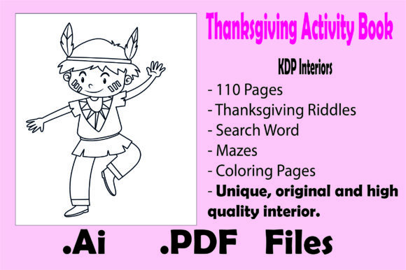 Thanksgiving Activity Book for Kids- Kdp Graphic