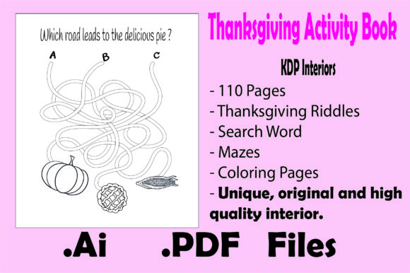 Thanksgiving Activity Book for Kids- Kdp Graphic Item