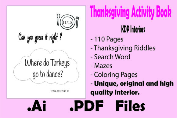 Thanksgiving Activity Book for Kids- Kdp Graphic Design