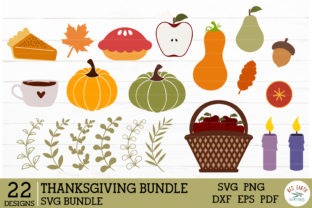 Thanksgiving Elements Bundle Graphic Crafts By redearth and gumtrees