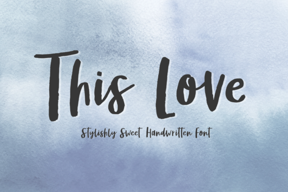 Print on Demand: This Love Script & Handwritten Font By Jyllyco