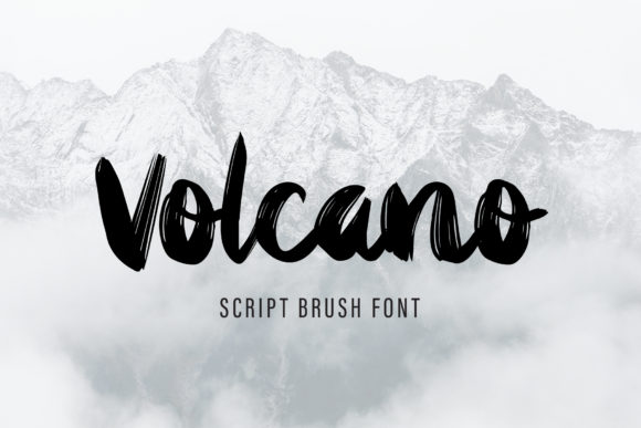 Print on Demand: Volcano Display Font By AquariiD