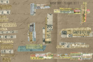 Print on Demand: Washi Tape Measure Set 1 Graphic Illustrations By LilBitDistressed
