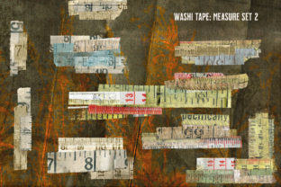 Print on Demand: Washi Tape Vintage Measuring Tape Set 2 Graphic Illustrations By LilBitDistressed