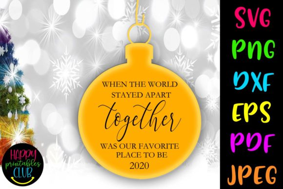 Print on Demand: When World Stayed Apart Christmas Graphic Crafts By Happy Printables Club