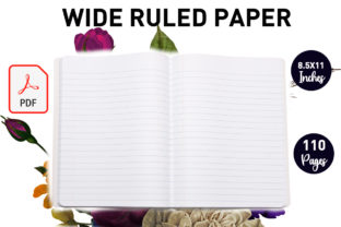 Print on Demand: Wide Ruled Paper ( Composition Notebook) Graphic KDP Interiors By Gurus Kdp Templates