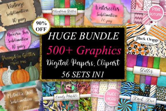 Huge Bundle Graphics  von PinkPearly