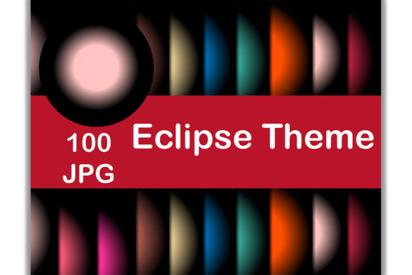 100 Digital Paper (Eclipse Theme) Graphic Backgrounds By Kamal Essouafi