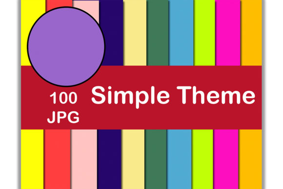100 Digital Paper (Simple Theme) Graphic Backgrounds By Kamal Essouafi