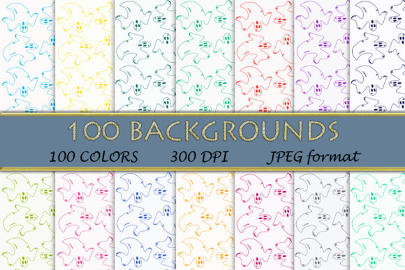 100 Ghost Digital Papers Graphic Backgrounds By SweetDesign