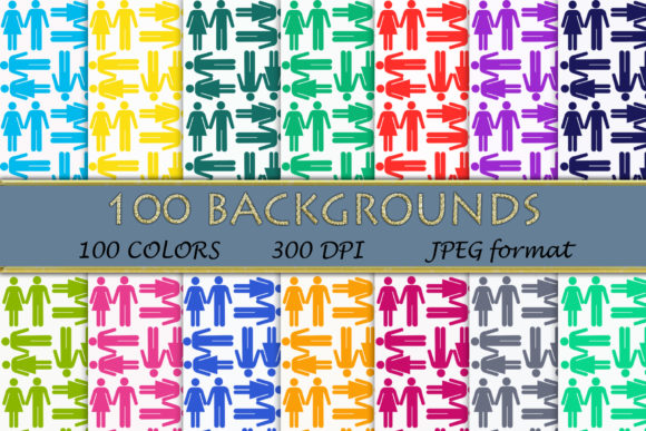 100 He and She Digital Papers Graphic Backgrounds By SweetDesign