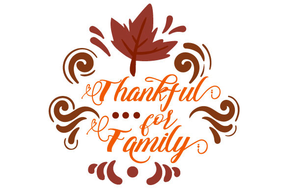 Thankful for Family Cut File Download