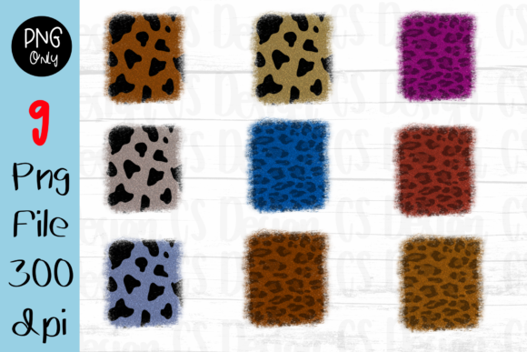 Print on Demand: 9 Leopard Clipart  Sublimation Graphic Graphic Crafts By CSDesign