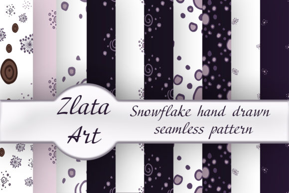 Print on Demand: Abstract Seamless Patterns Beautiful Set Graphic Patterns By ElenaZlataArt