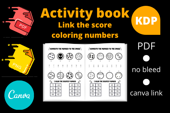 Print on Demand: Activity Book Link the Score Coloring Nb Graphic KDP Interiors By Dunkyshot