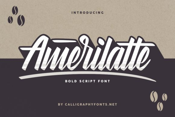 Print on Demand: Amerilatte Script & Handwritten Font By CalligraphyFonts