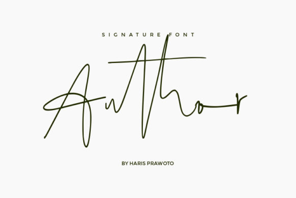 Print on Demand: Author Script & Handwritten Font By harisprawoto