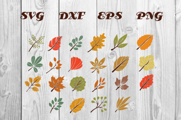 Print on Demand: Autumn Leaves Clip Art & Graphic Graphic Print Templates By dadan_pm