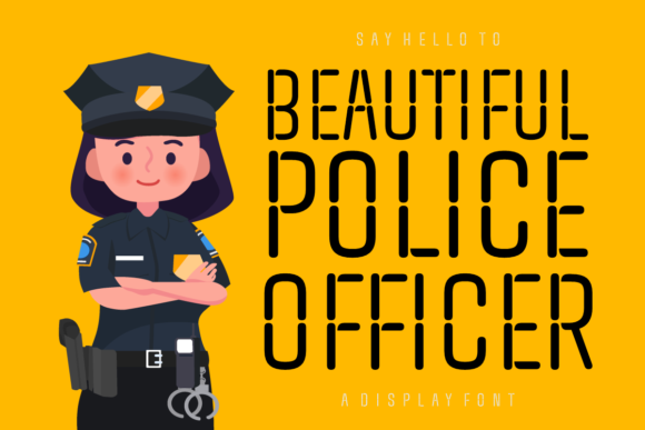 Print on Demand: Beautiful Police Officer Display Font By Situjuh