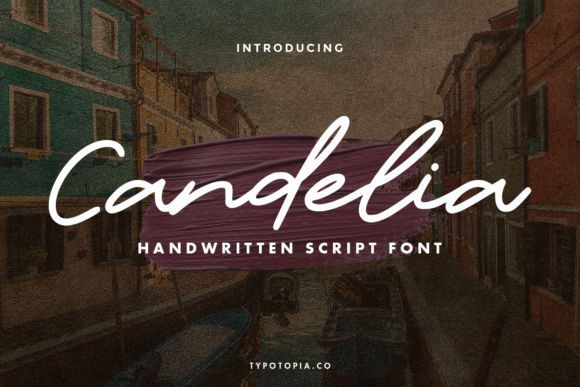 Print on Demand: Candelia Script & Handwritten Font By typotopia