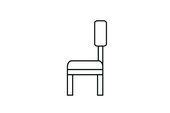 Print on Demand: Chair out Line Livingroom Icon Graphic Icons By meandmydate