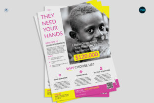 Charity Donation Flyer V1 Graphic Print Templates By risegraph