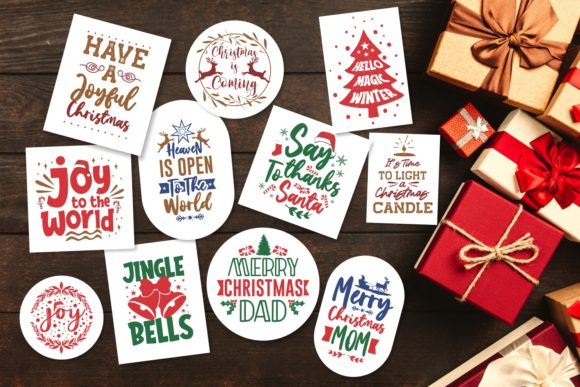 Christmas Bundle SVG Typography Graphic Download