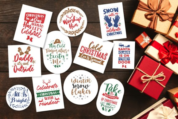 Christmas Bundle SVG Typography Graphic Preview