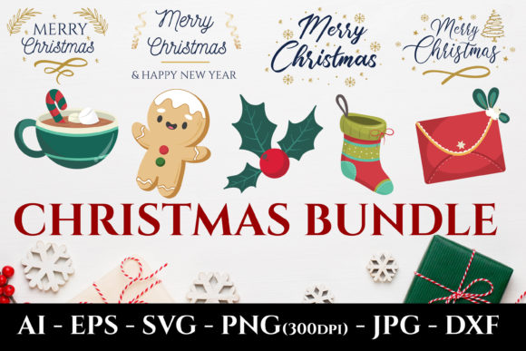 Print on Demand: Christmas Bundles SVG Sublimation Design Graphic Crafts By AdMaioraDesign