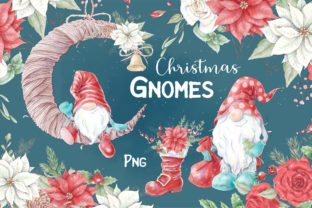 Christmas Gnomes and Decorative Elements Graphic Illustrations By nicjulia