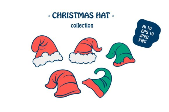 Print on Demand: Christmas Hat Icon Illustration Graphic Illustrations By archshape
