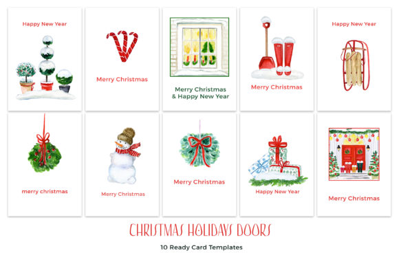 Christmas Holiday Doors Creator Graphic Download