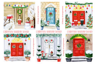 Christmas Holiday Doors Creator Graphic Illustrations By LABFcreations 3