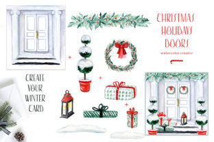 Christmas Holiday Doors Creator Graphic Illustrations By LABFcreations 4