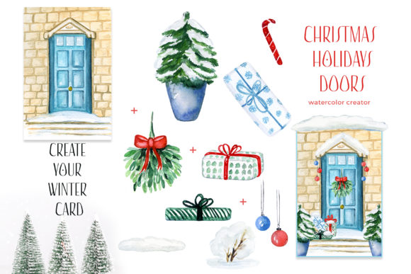 Christmas Holiday Doors Creator Graphic Preview