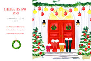 Christmas Holiday Doors Creator Graphic Illustrations By LABFcreations 6
