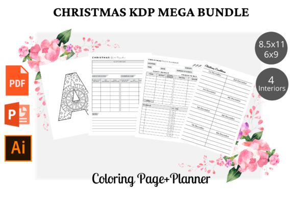 Christmas KDP Interior Mega Bundle Grafik KDP Interiors von KDPWarrior