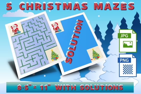 Christmas Mazes Set 1 Graphic Crafts By Webmark