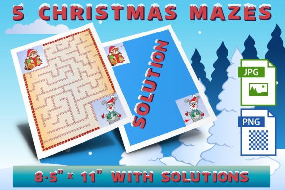 Christmas Mazes Set 2 Graphic Crafts By Webmark