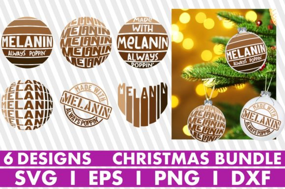 Christmas, Melanin, Christmas Ornaments Graphic Crafts By svgyeahyouknowme