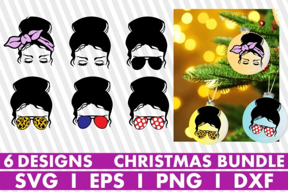 Christmas Ornaments, Messy Bun, Melanin Graphic Crafts By svgyeahyouknowme