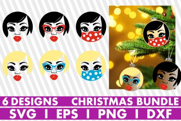Christmas Ornaments, Social Distancing Graphic Crafts By svgyeahyouknowme