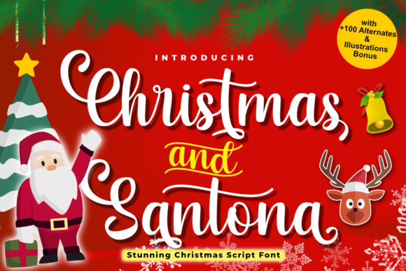 Print on Demand: Christmas and Santona Script & Handwritten Font By Madatype Studio
