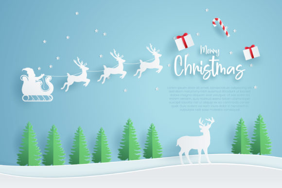 Print on Demand: Christmas Banner Template. Graphic Graphic Templates By ngabeivector