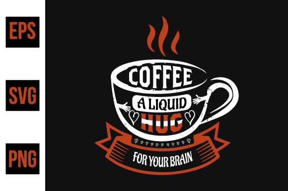 Print on Demand: Coffee Typographic Quotes Design Vector. Graphic Print Templates By ajgortee