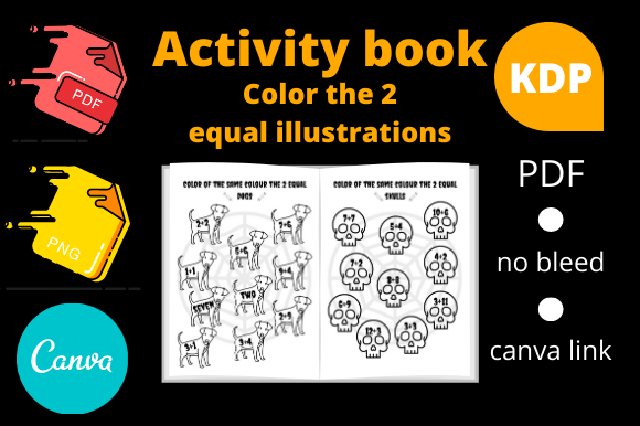 Print on Demand: Color the 2 Equal Illustrations Activity Graphic KDP Interiors By Dunkyshot