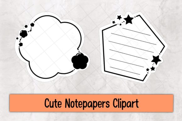 Cute Notepapers Clipart Graphic Illustrations By TakeNoteDesign