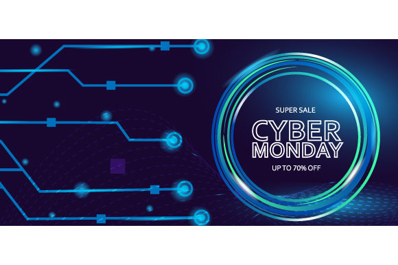 Cyber ​​monday Sale Modern Background Graphic Backgrounds By Muhammad Rizky Klinsman