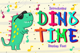 Print on Demand: Dino Time Display Font By boogaletter